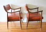 mcm pair of orange chairs 2