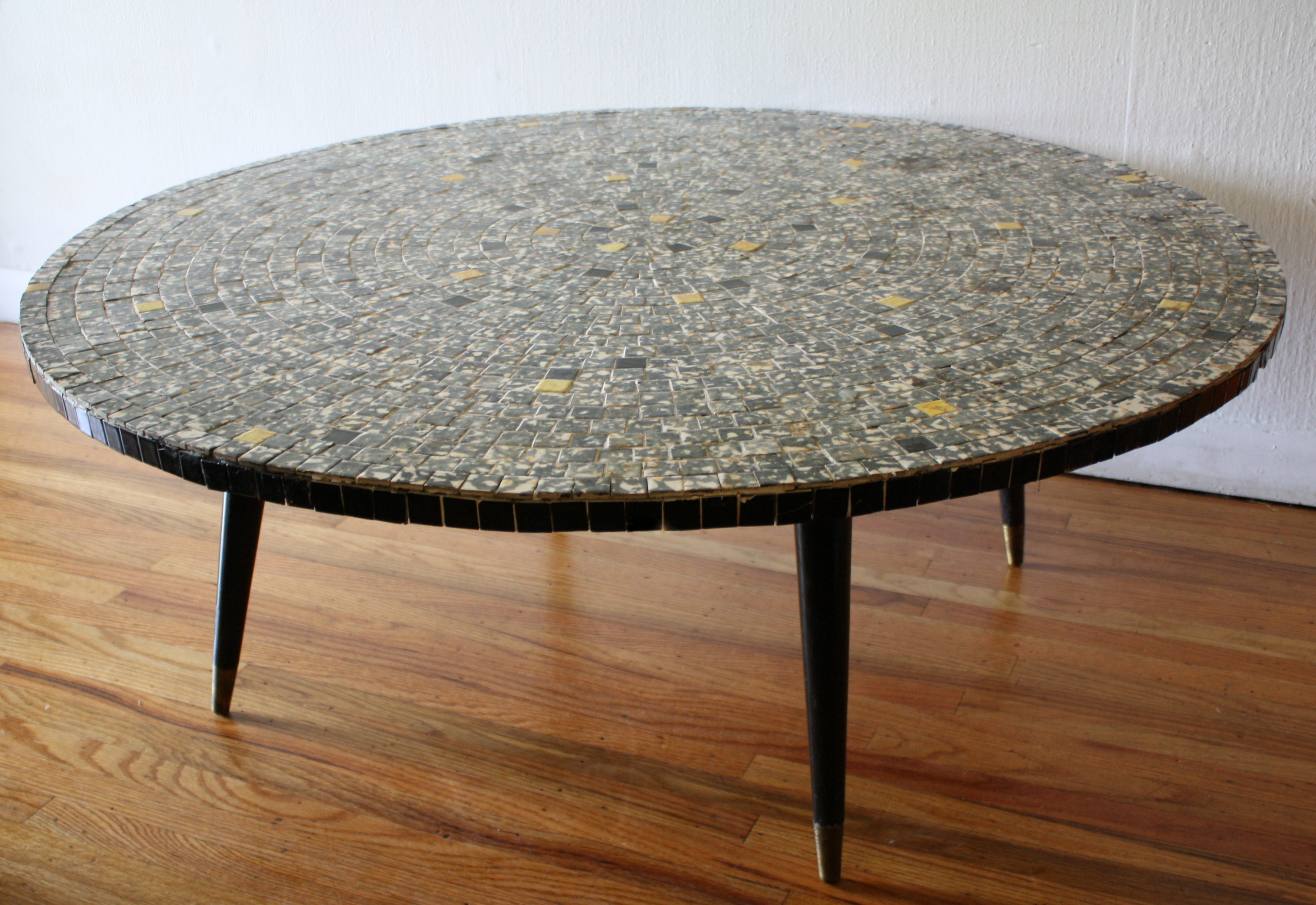 Mid century modern tile top tables picked vintage for Tile top coffee table