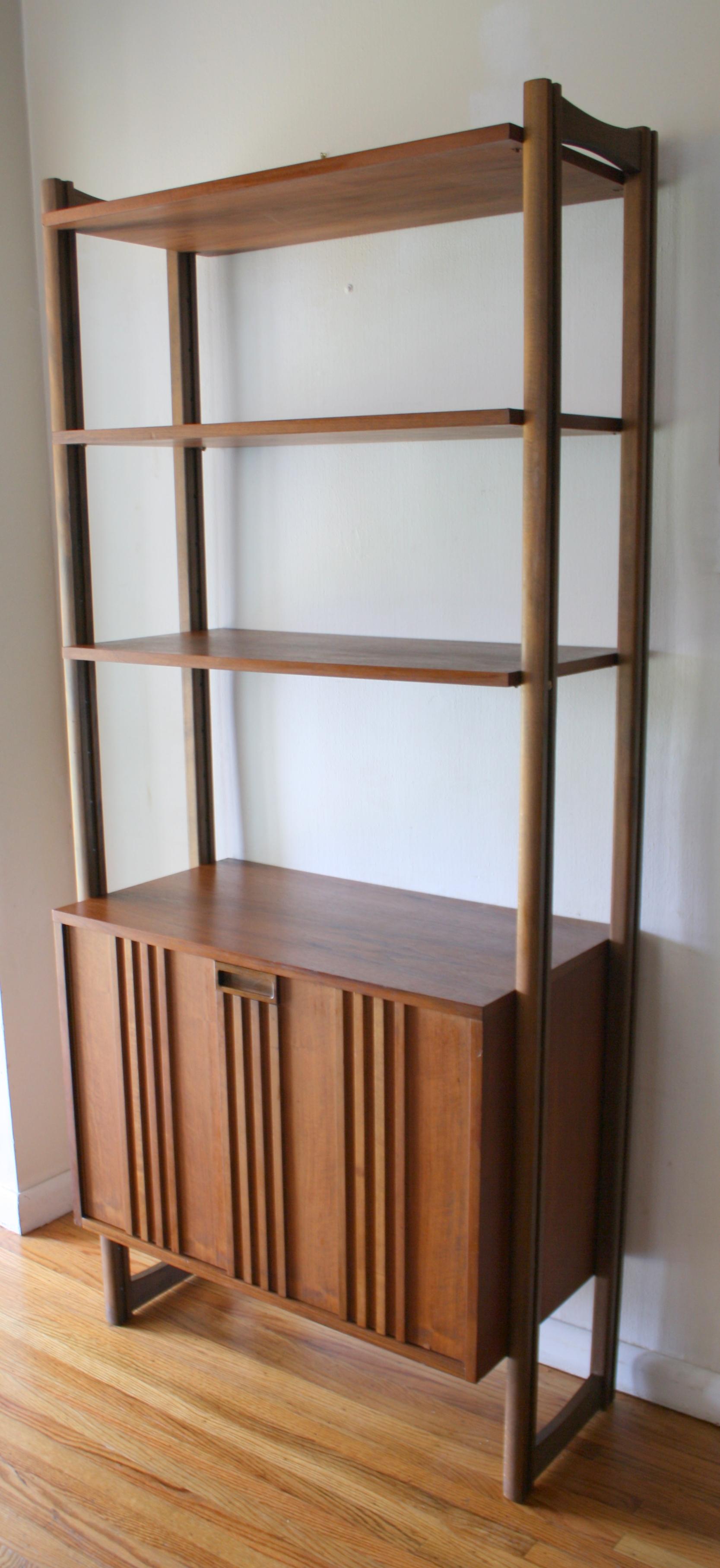 Mid Century Modern Danish Modular Bookshelf Cabinet