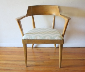 heywood wakefield aqua chevron chair 1