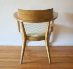 heywood wakefield aqua chevron chair 2
