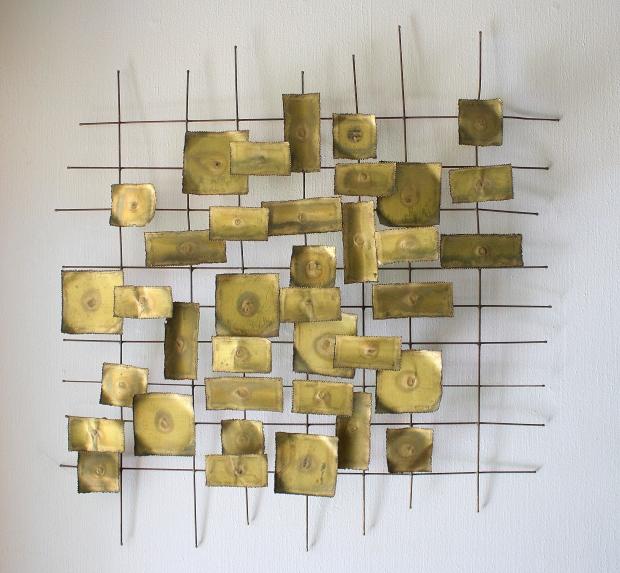 mcm Brutalist wall sculpture 1