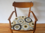 mcm chair with inlaid design 1