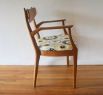 mcm chair with inlaid design 2