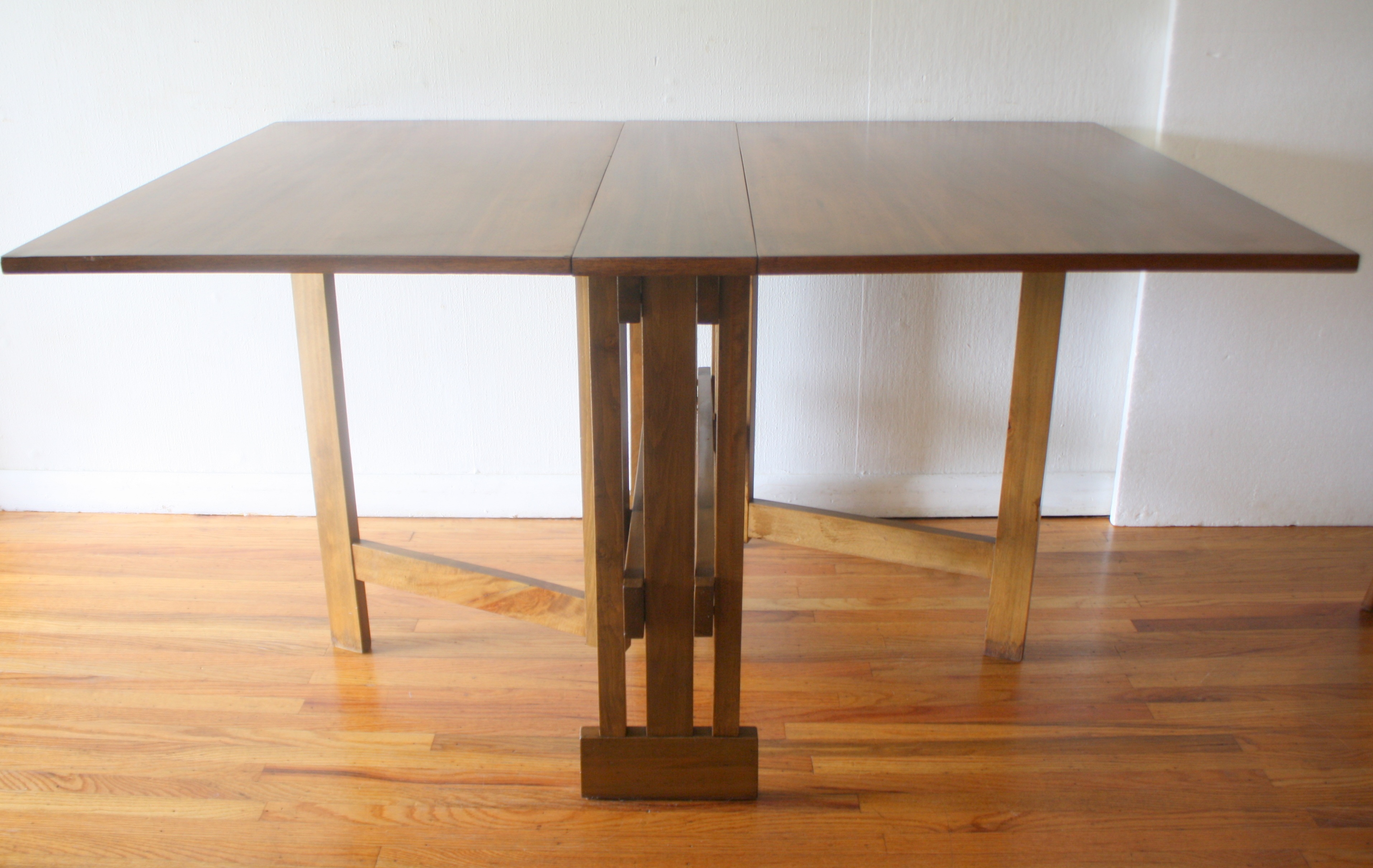 Mid Century Modern Gateleg Dining Table Picked Vintage - Mid century modern folding dining table