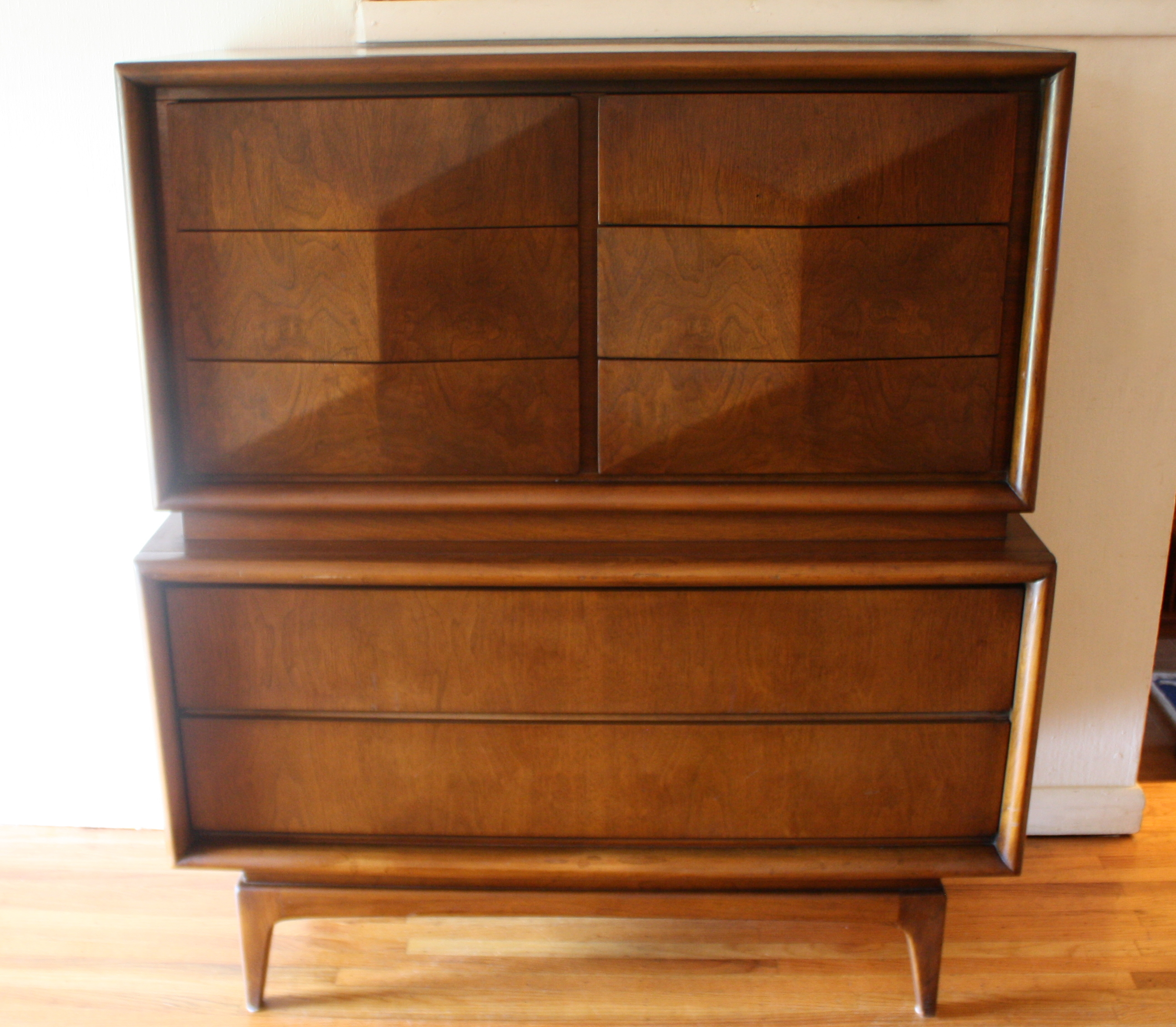 Armoire Dresser: Mid Century Modern Armoire Tall Dresser By United
