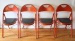vintage red folding chairs 2