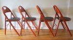 vintage red folding chairs 3