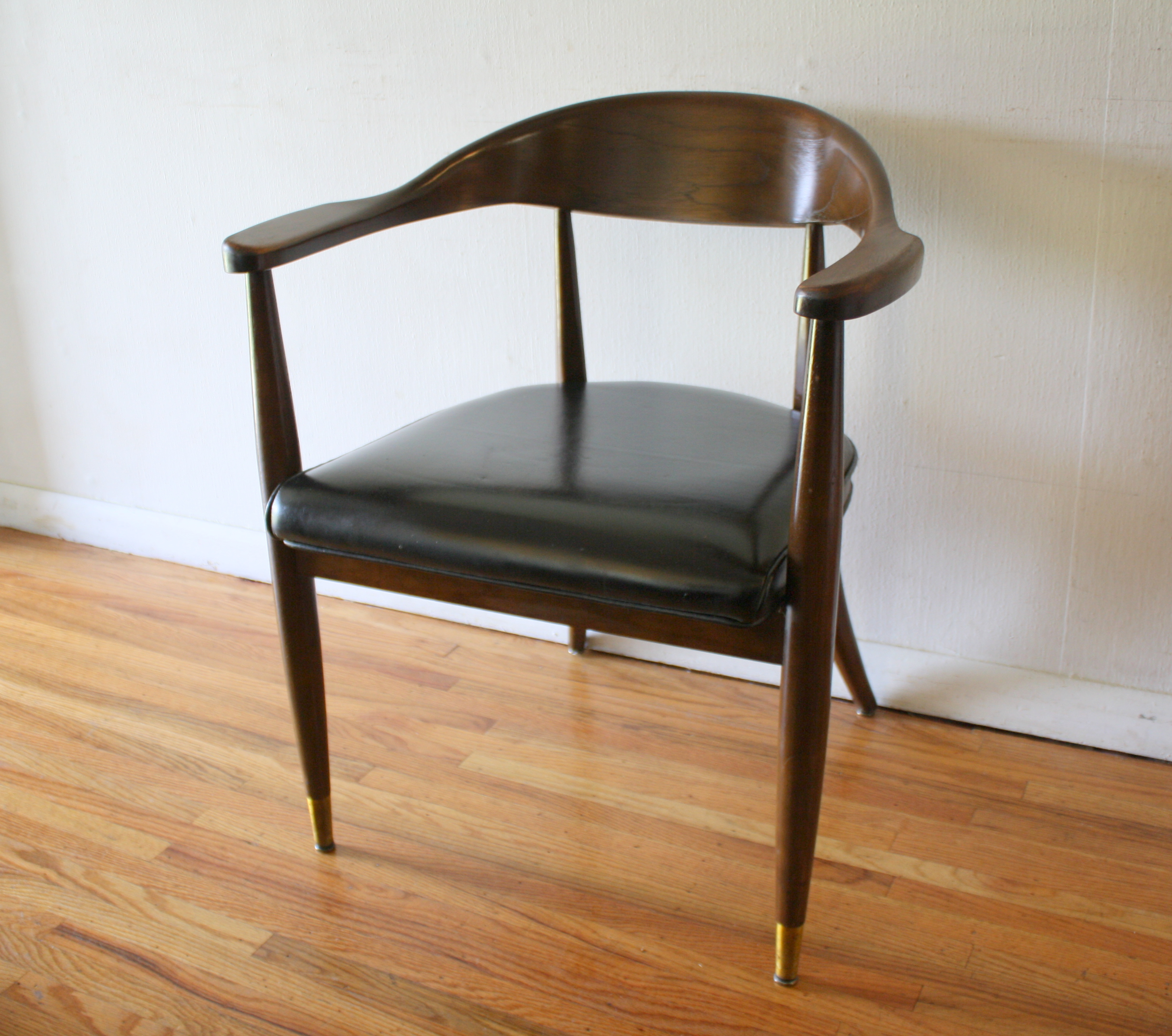 Boling chair black naugahyde seat 1