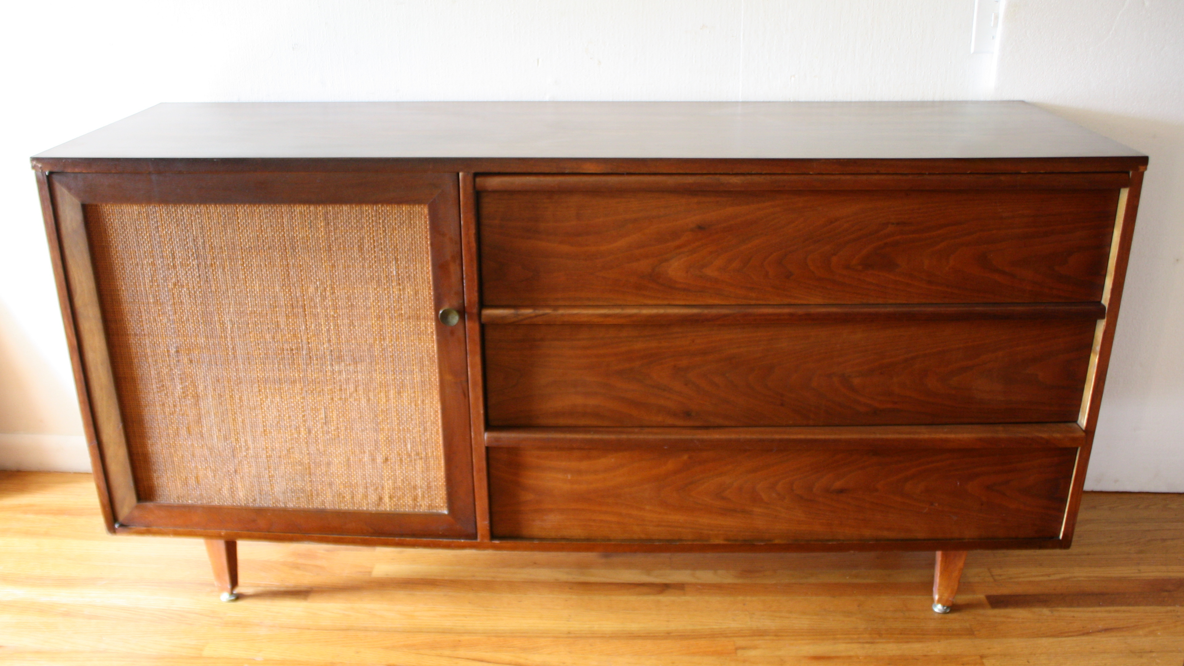 mcm credenza with rattan side cabinet 1