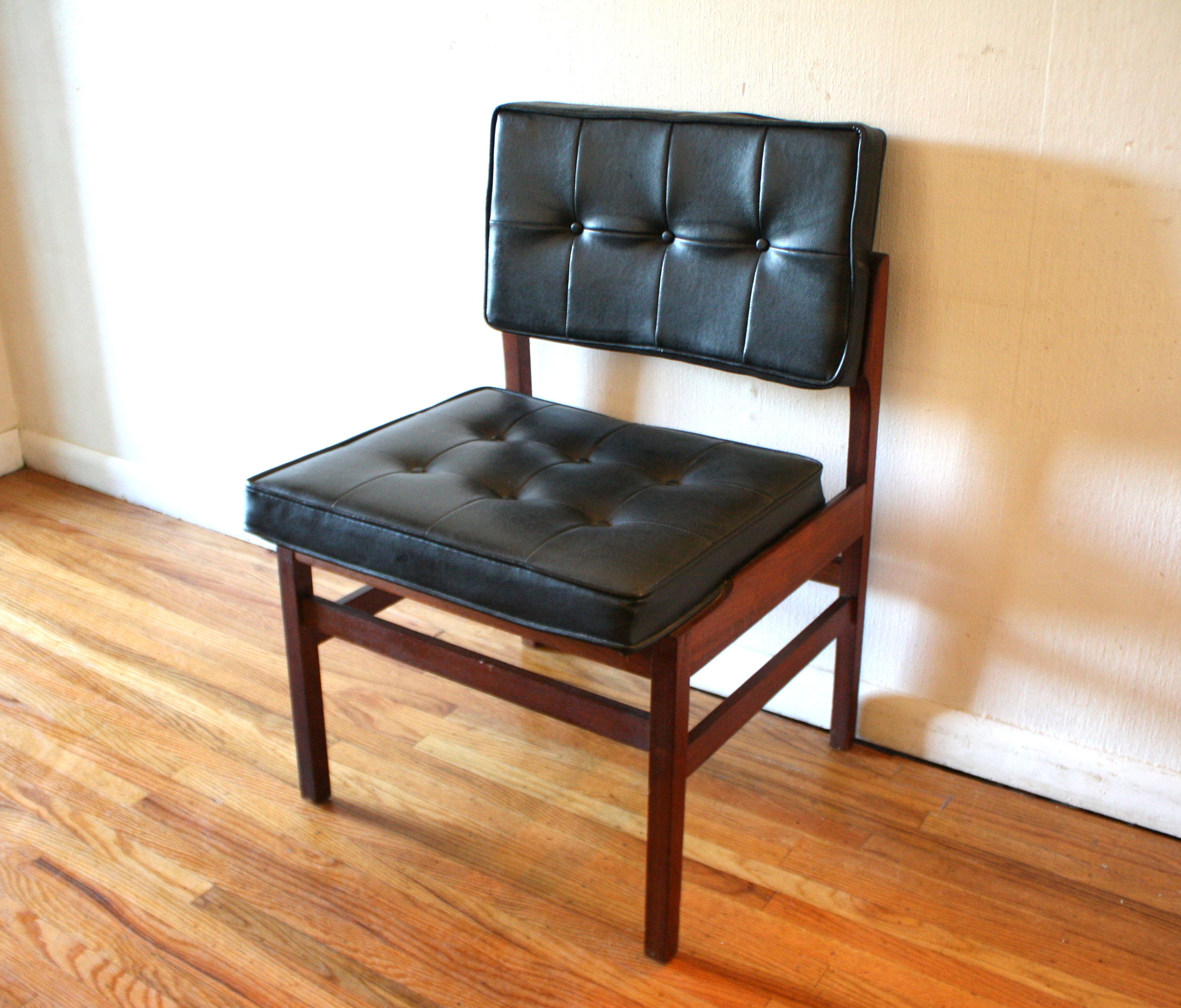 mcm tufted black chair 1