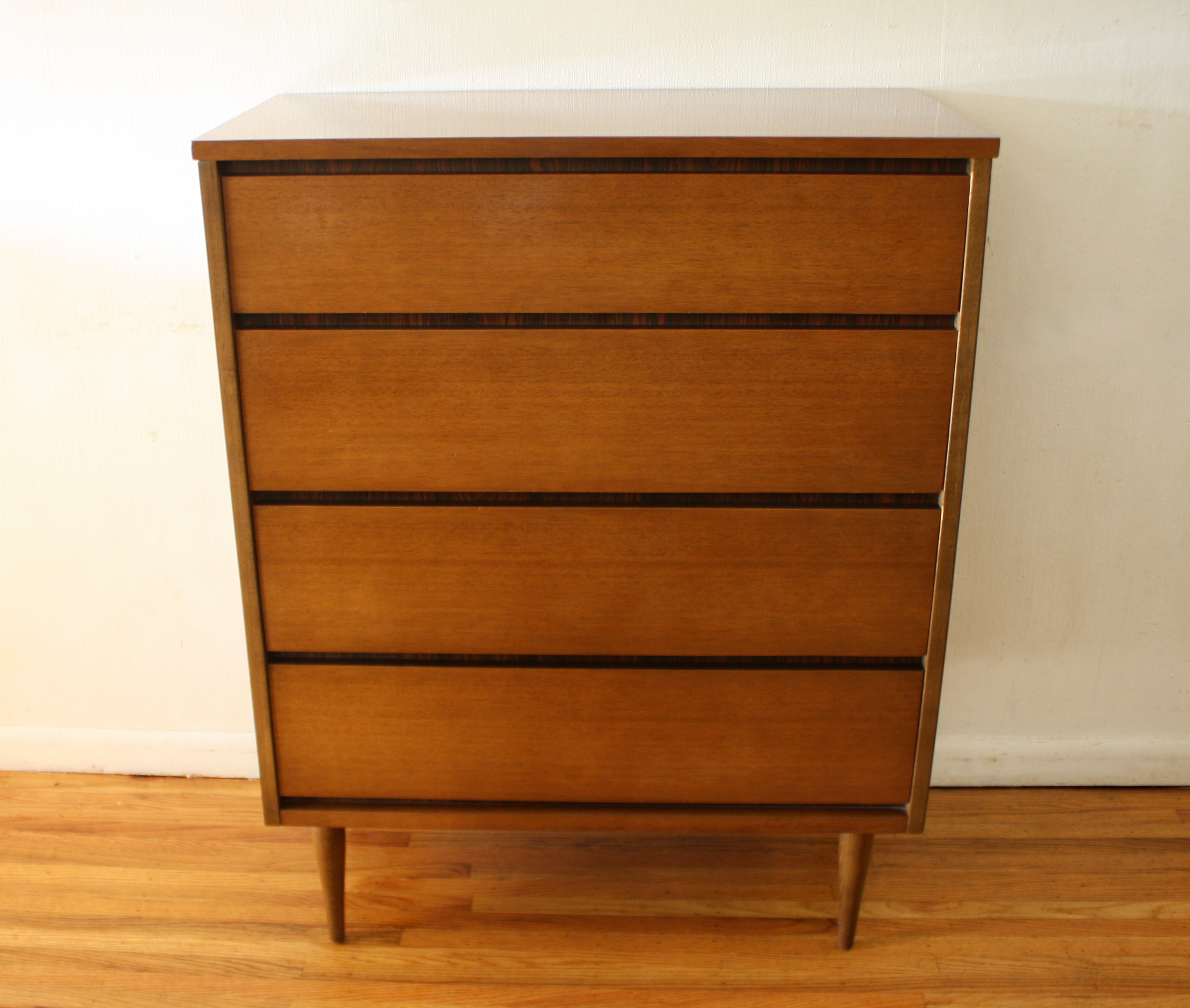 Bassett streamlined tall dresser 1