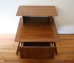 mcm 2 tiered side table with sculpted legs 3