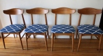 mcm dining chair set of 4 blue seats 2