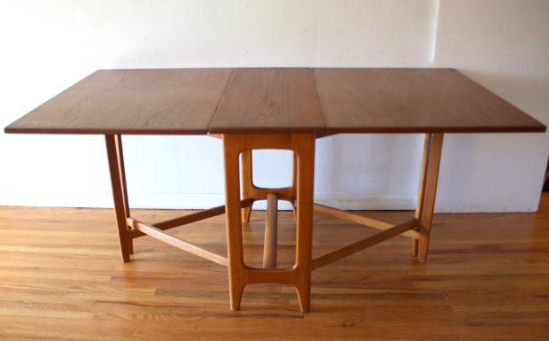 Mid Century Modern Gateleg Dining Table Picked Vintage : mcm gateleg arched base 2 from pickedvintage.com size 620 x 386 jpeg 136kB