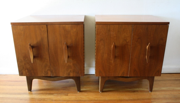 mcm sculpted nightstand end tables 1