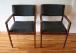 mcm slate gray chair pair 1