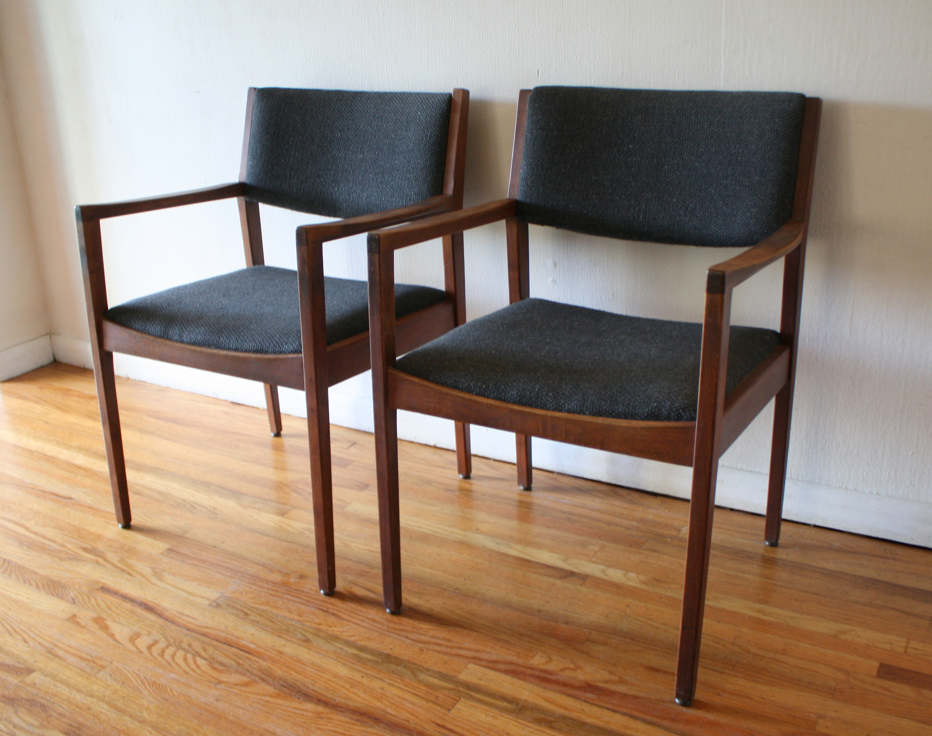 mcm slate gray chair pair 3