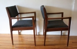 mcm slate gray chair pair 4