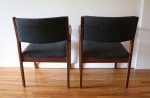 mcm slate gray chair pair 5
