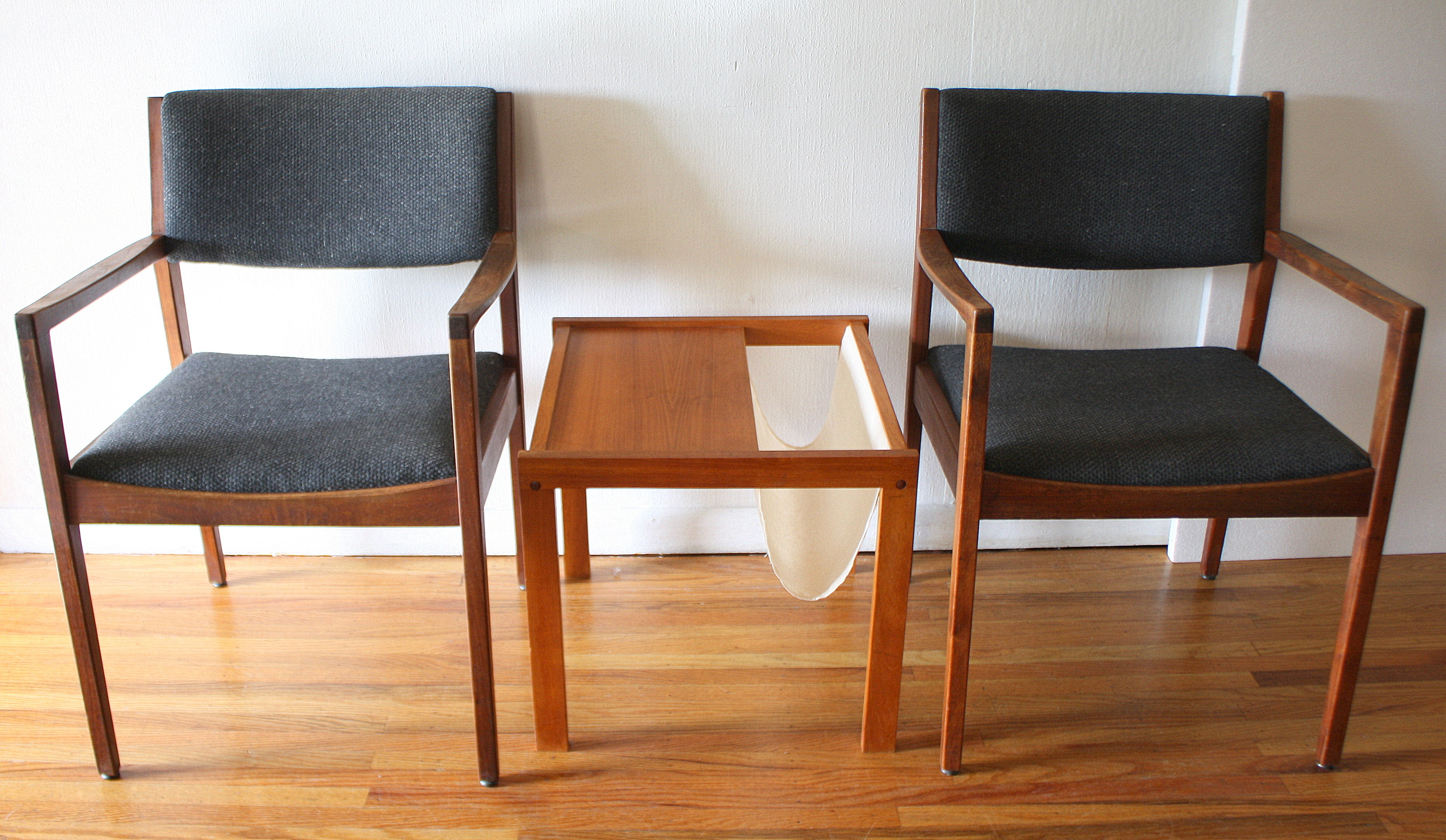 Mid Century Modern Pairs of Arm Chairs
