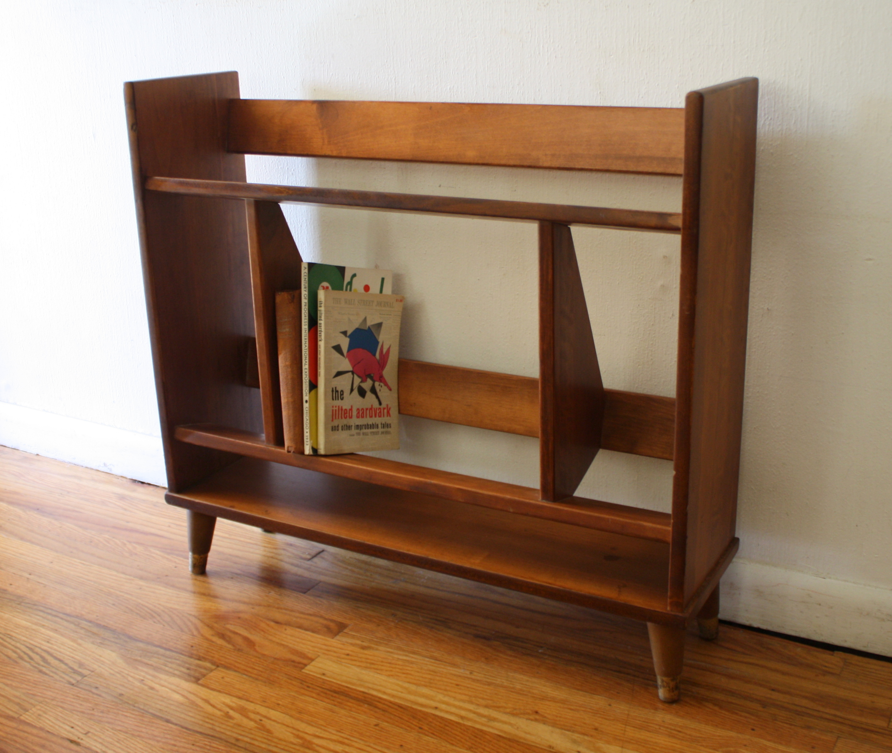 mid century modern mini danish book shelf 1