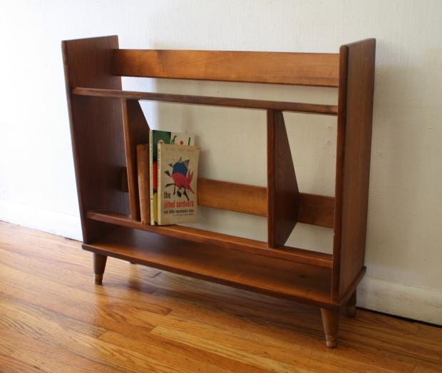 mid century modern mini danish book shelf 1