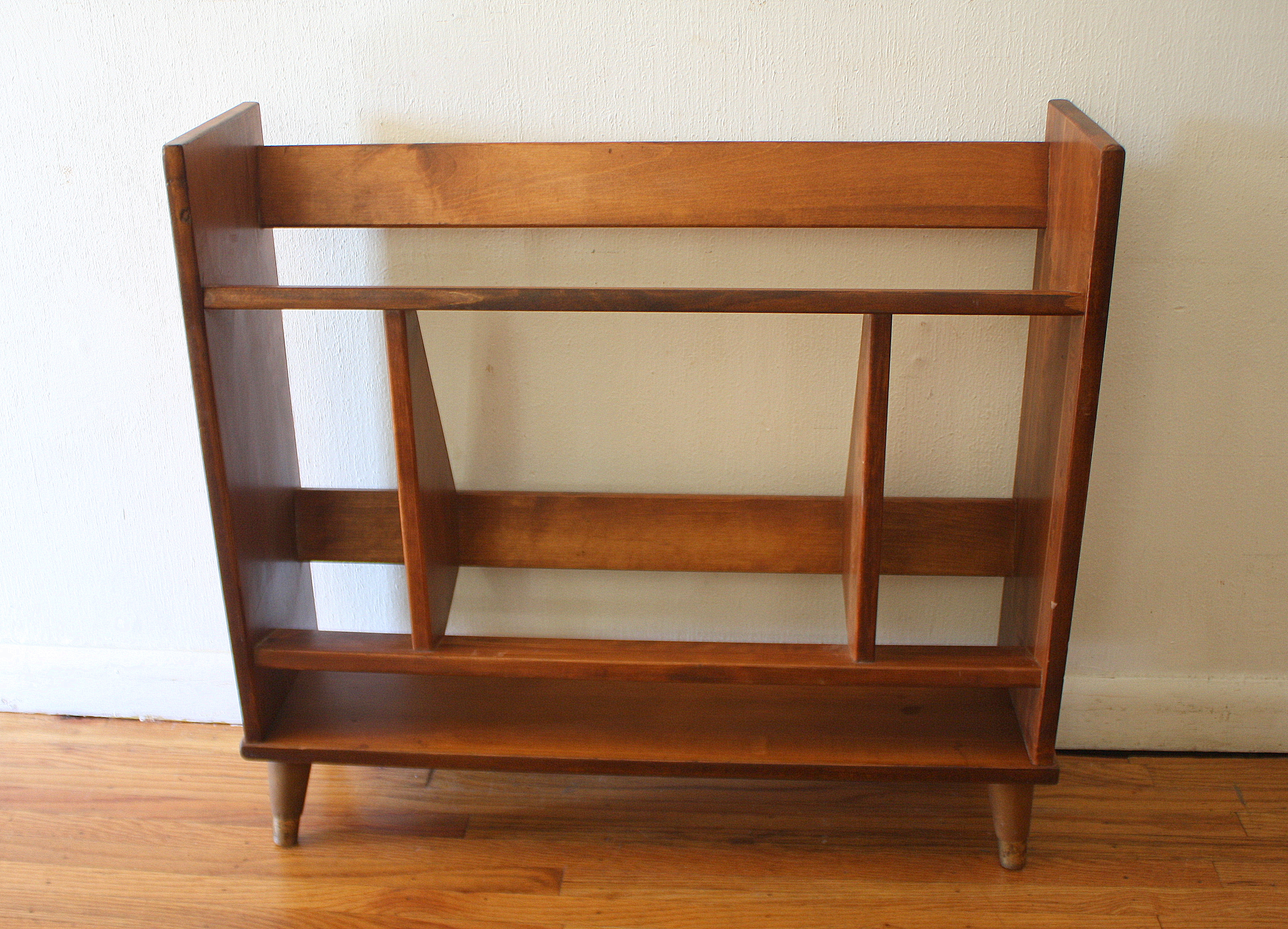 ^ Mid entury Modern Danish Mini Book Shelf Picked Vintage
