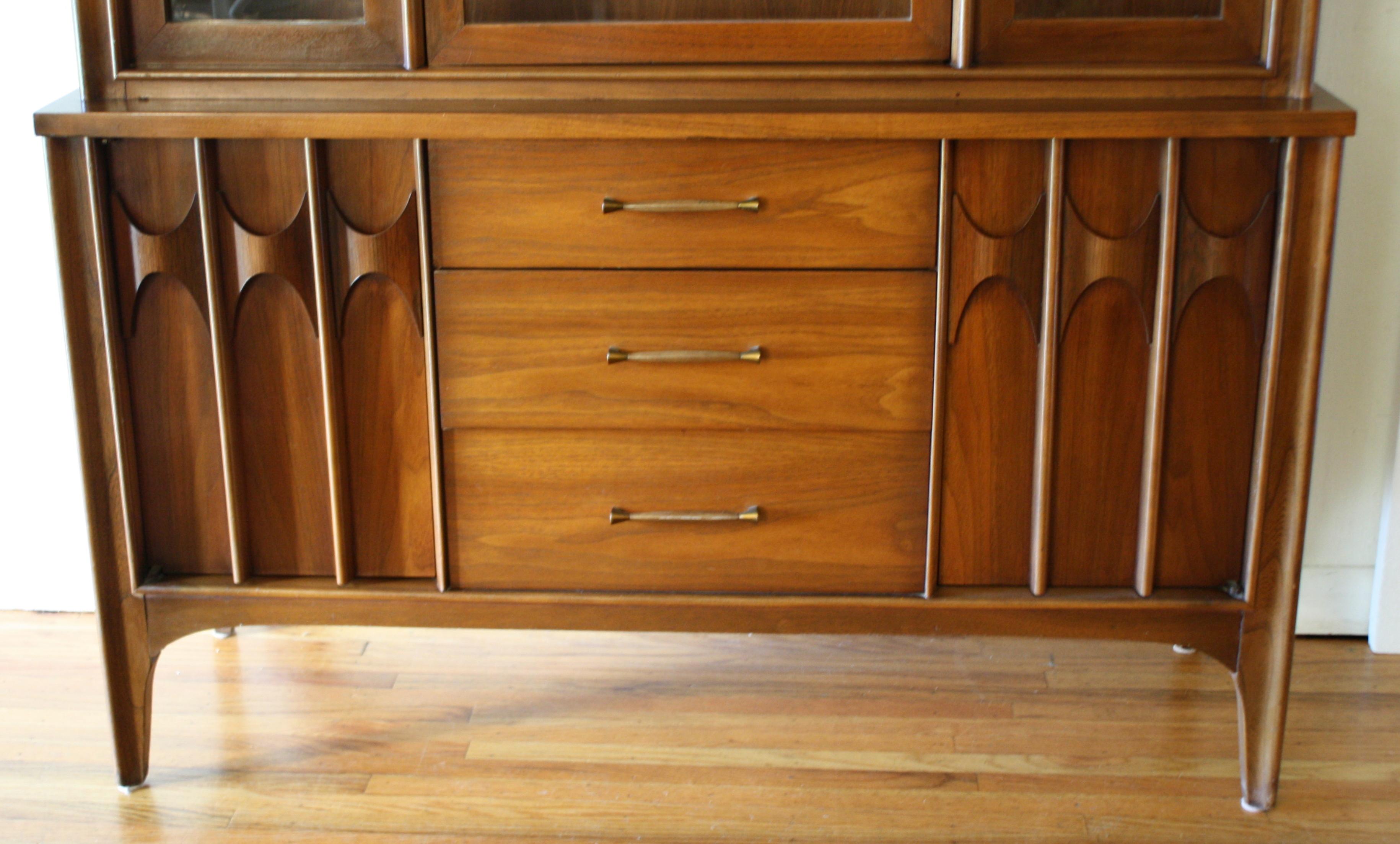Broyhill Brasilia mini hutch cabinet 2 | Picked Vintage