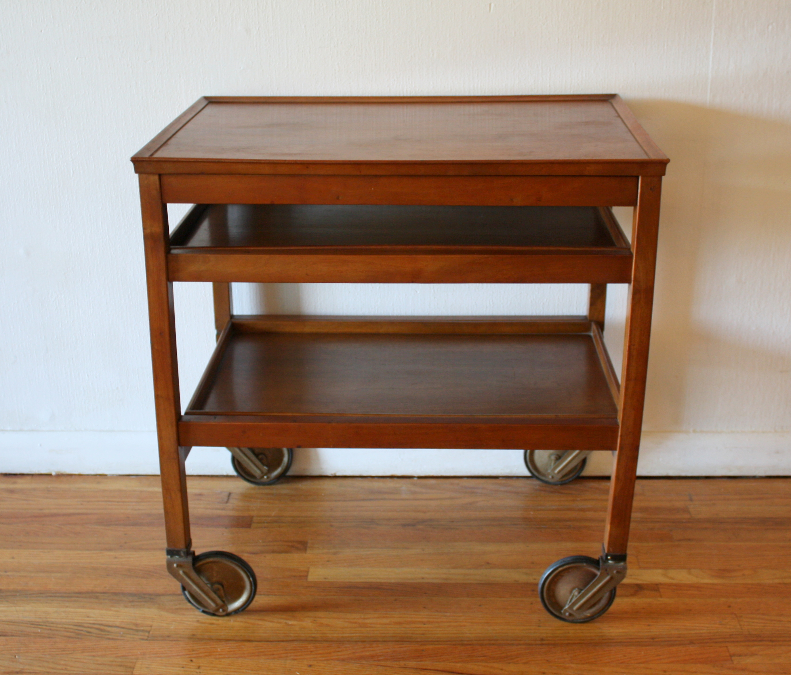 Mid Century Modern Bar Serving Cart Picked Vintage