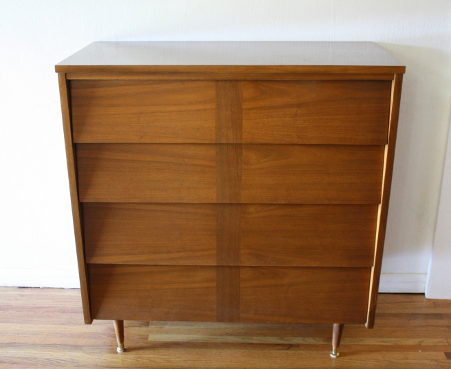 mcm louvered tall dresser 1