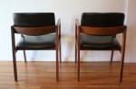 mcm pair of black naugahyde chairs 2