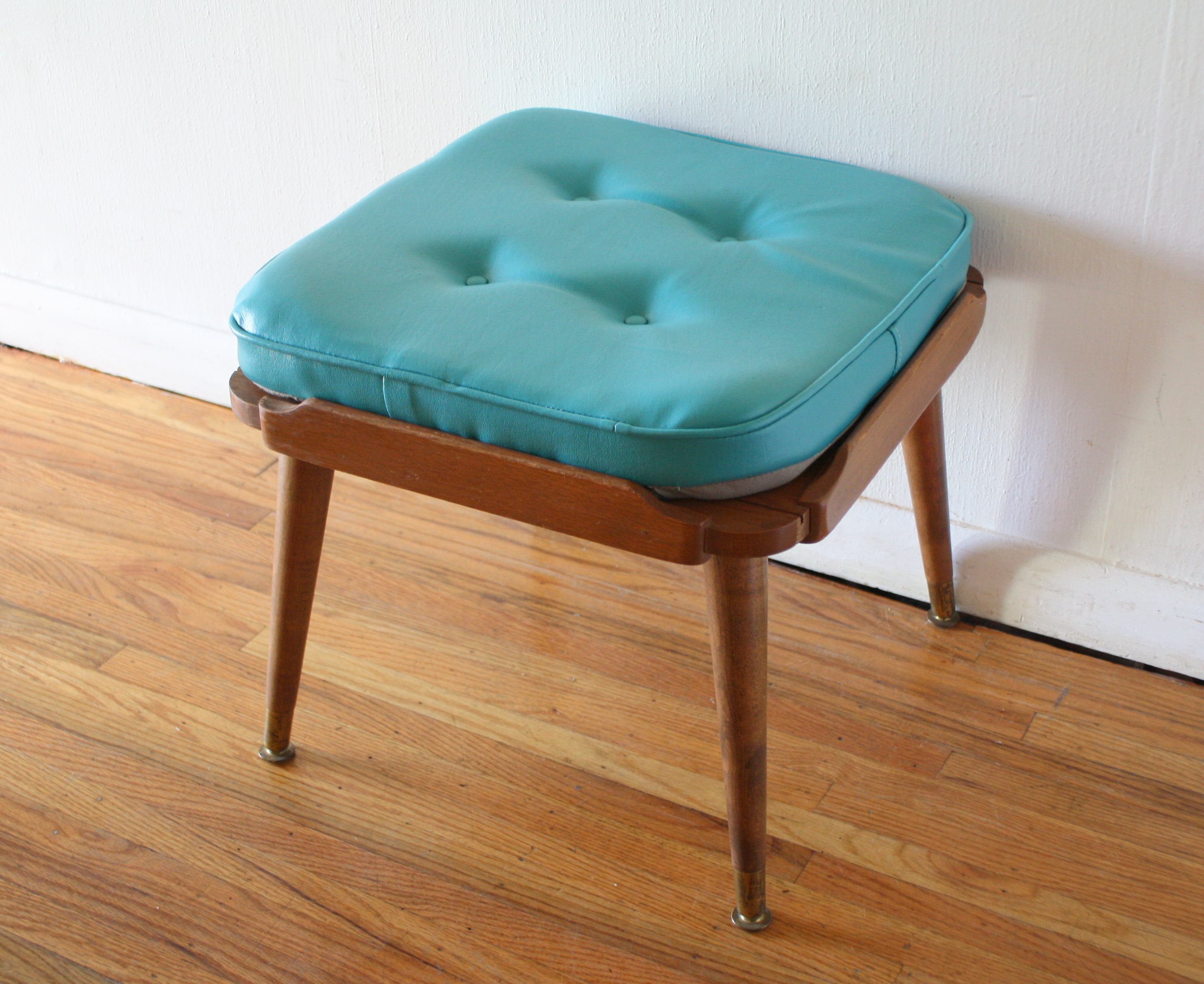 Picture of: Mid Century Modern Ottoman Picked Vintage