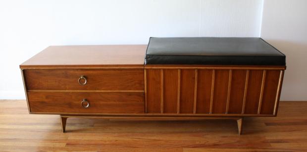 Mid Century Modern Lane Cedar Chest Bench Picked Vintage