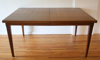 mcm dining table 2 extension leaves 2