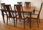 mcm dining table 3 extension leaves 1