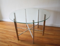 mid century modern chrome and glass coffee table 2