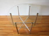 mid century modern chrome and glass coffee table 3