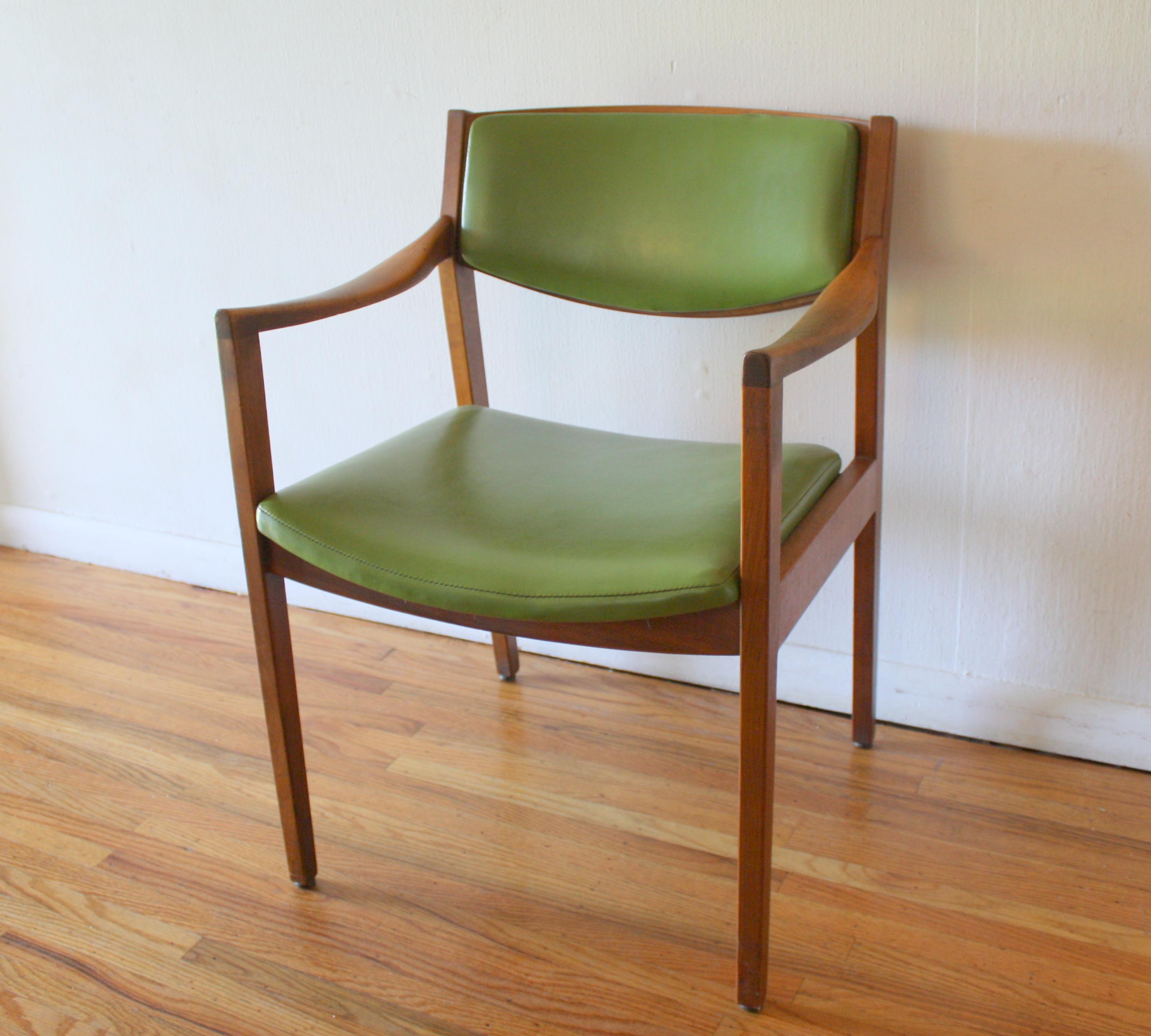 mcm avocado green arm chair 1