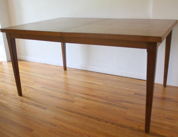 mcm dining table 2 extension leaves 1