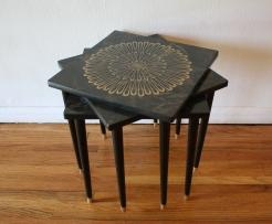 mcm nesting tables flower sunburst 1
