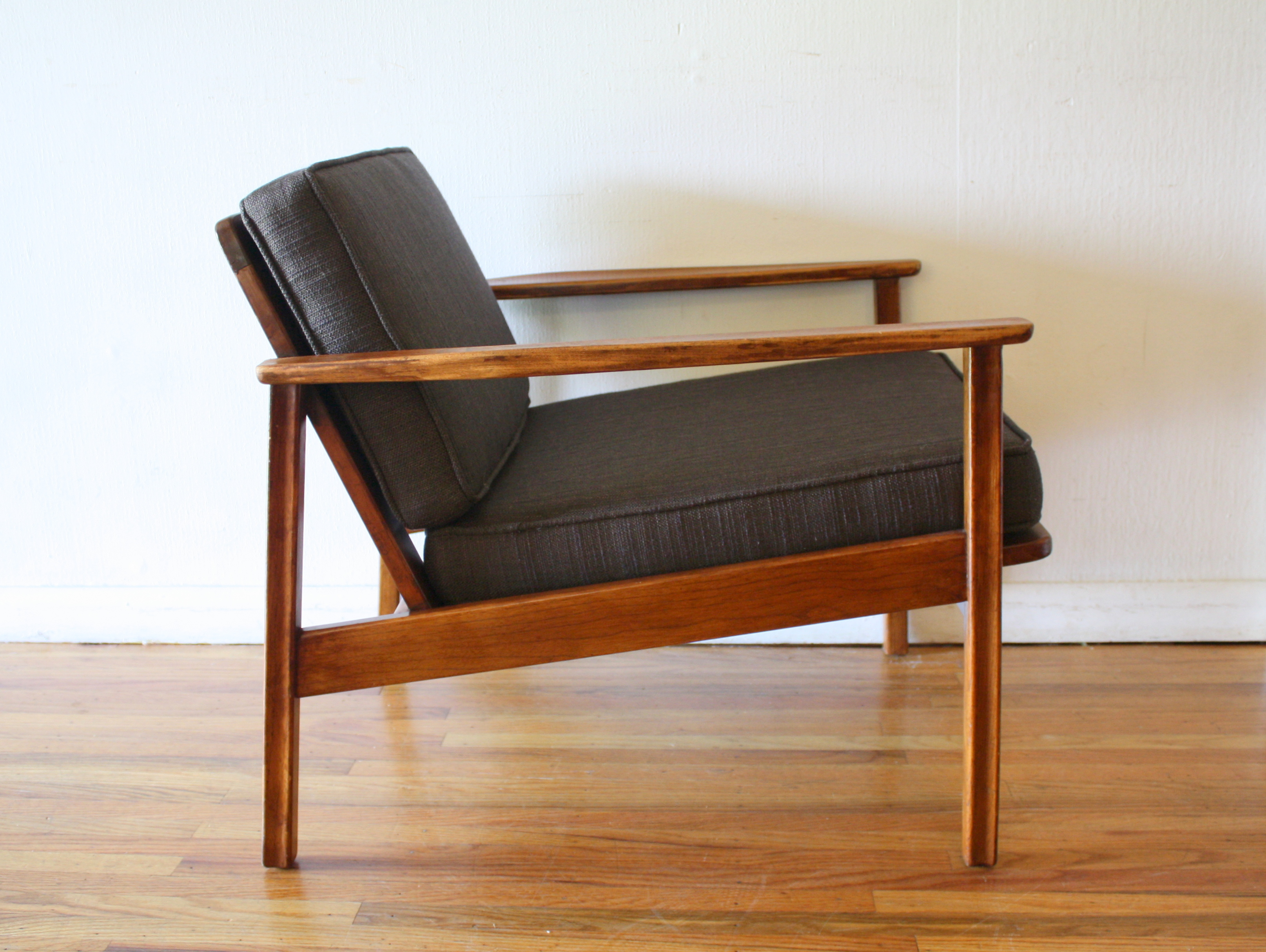 Mid Century Modern Arm Lounge Chair Picked Vintage