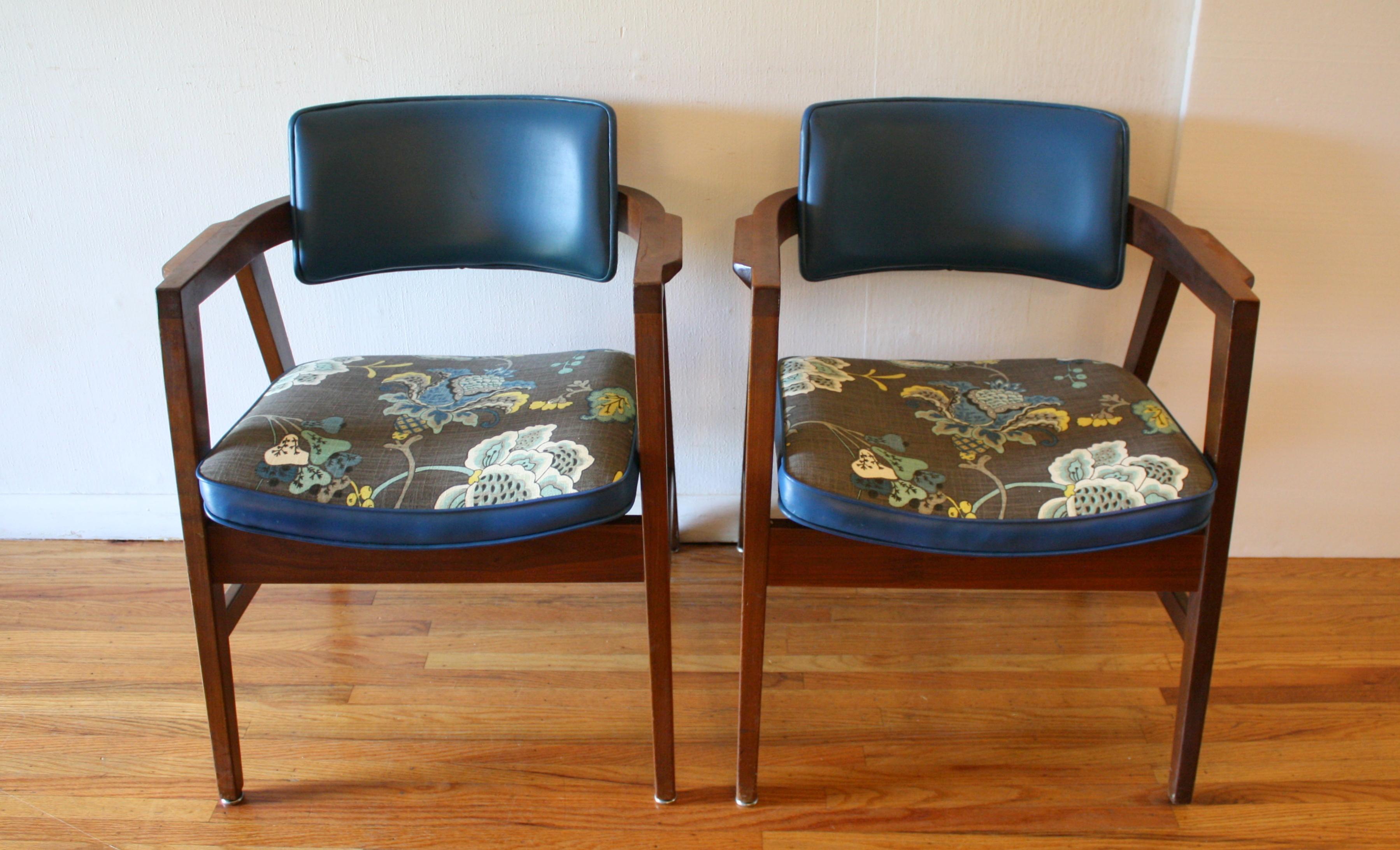 Gunlocke pair of cobalt blue chairs 4.JPG