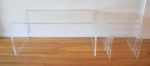 lucite coffee and nesting table set 1