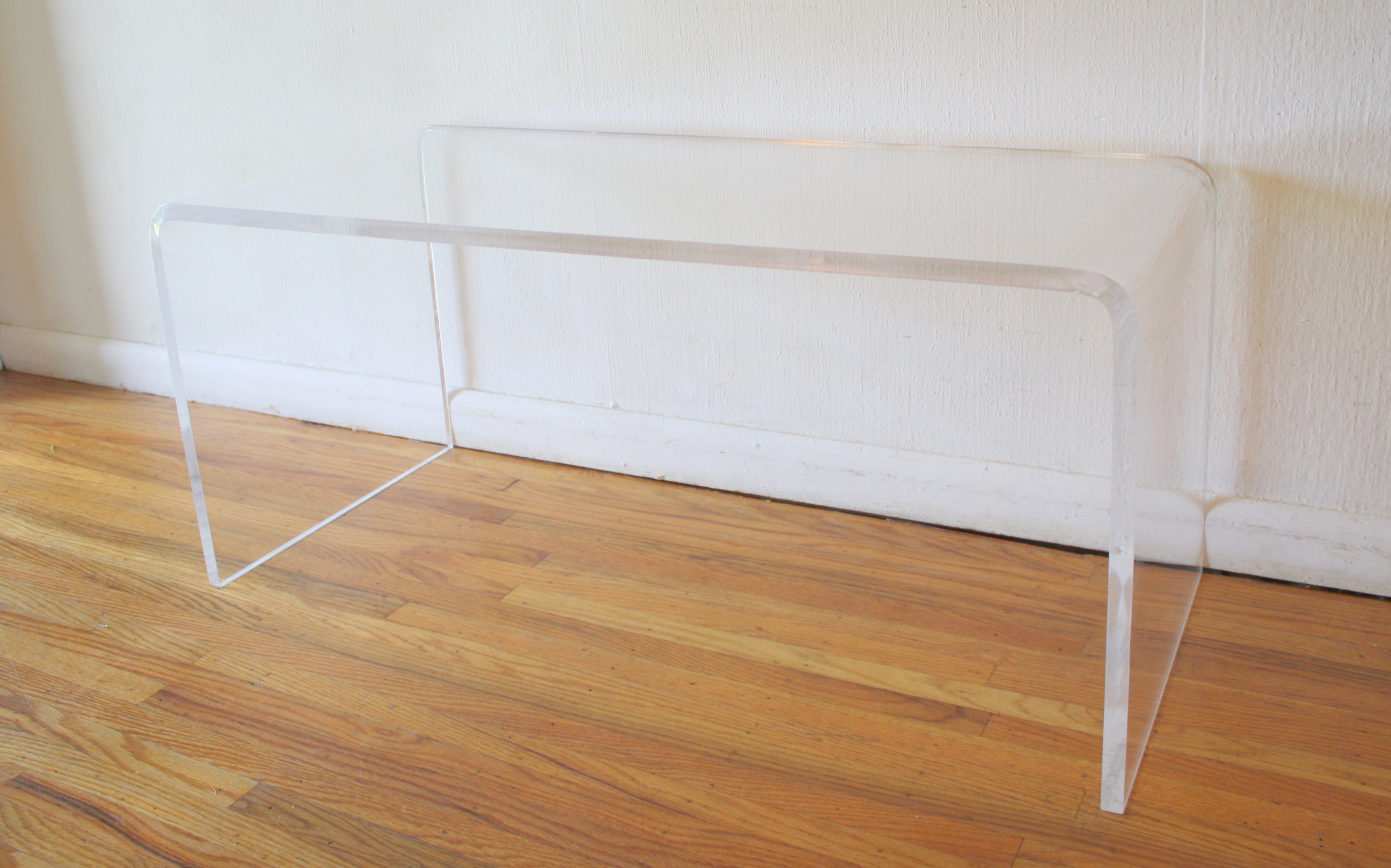 lucite coffee table 2
