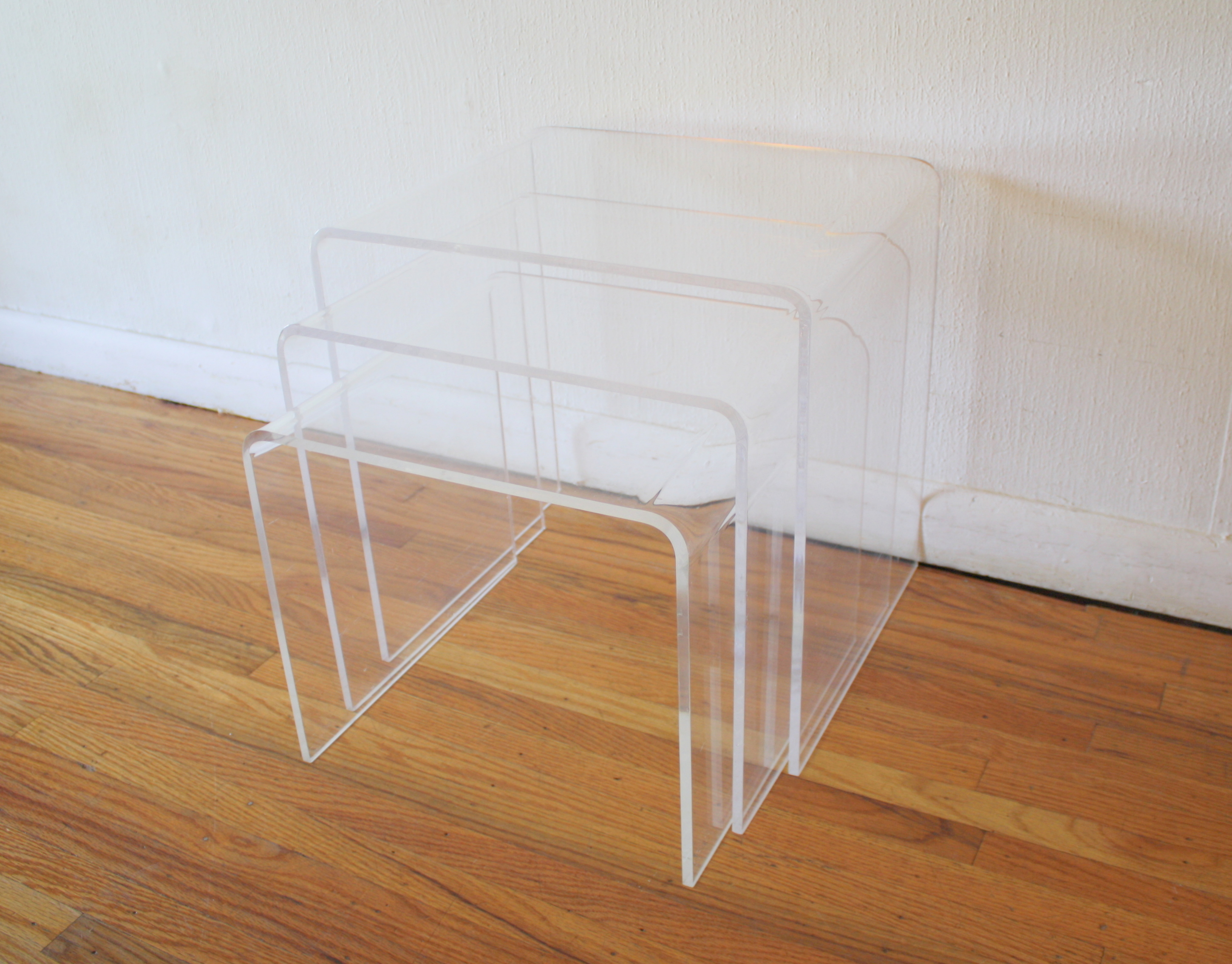 lucite nesting tables 1