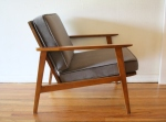 mcm arm lounge chair in elephant gray 2