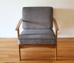mcm arm lounge chair in elephant gray 4