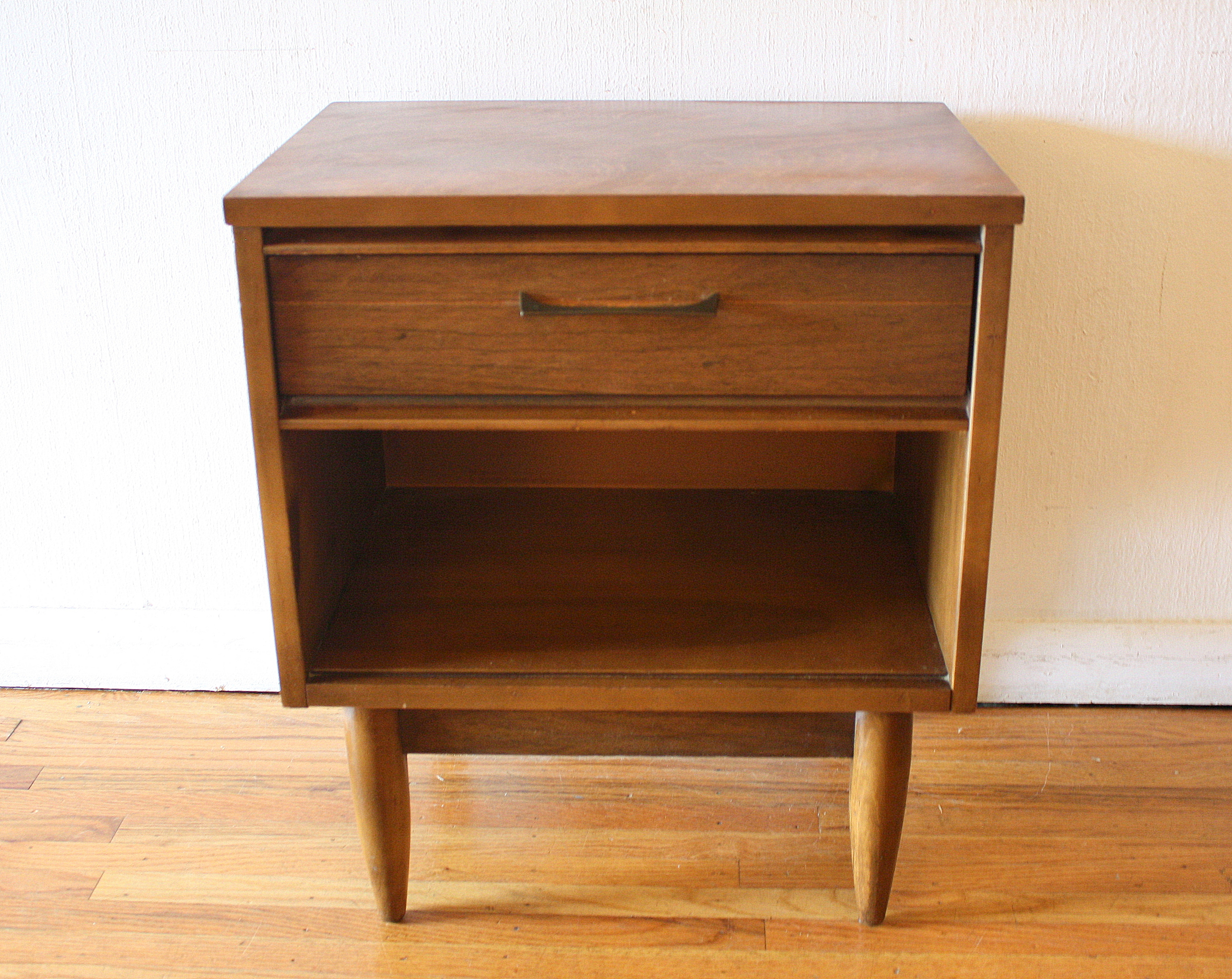 Nightstands picked vintage for Tall modern nightstands