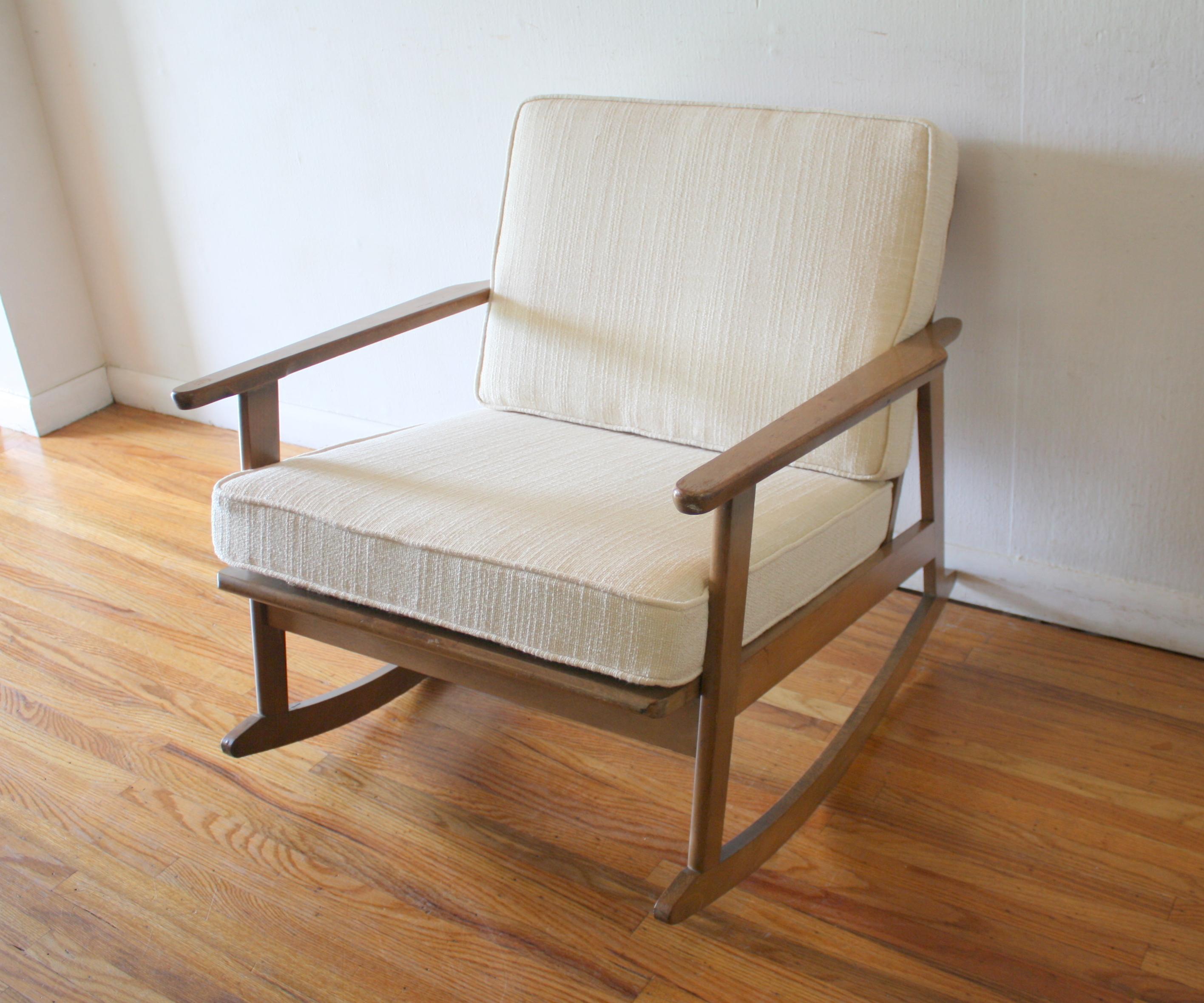 mid century modern rocker chair picked vintage